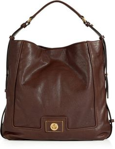 $480 Marc by Marc Jacobs Deepest Brown Hobo Bag