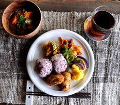 晴粒ごはんの日 | Cafe/Food | Jikonka Japanese Dinner, Japanese Food, Delicious Dinner Recipes, Yummy Food, Cafe Food, Food Categories, Food Presentation, Food Plating, No Cook Meals