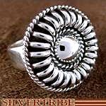 Native American Genuine Sterling Silver Ring