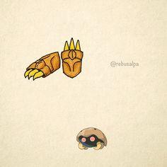 No. 140 - Kabuto. #pokemon #kabuto #claws #pokeapon