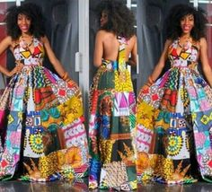 Dance With the Night - Long Unique African Dress, Black Dress with Bright African Patchwork, Ooak Boho Patchwork Dress, Ideal for L to African Print Dresses, African Wear, African Attire, African Fashion Dresses, African Women, African Prints, Nigerian Fashion, Ghanaian Fashion, African Style