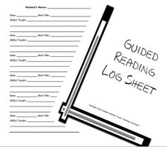 FREE Reading Log Conference Sheet - used with students grades K-6