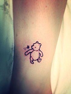 Cute pooh bear tattoo, he helped me grow up, I will defiantly have a pooh bear tattoo