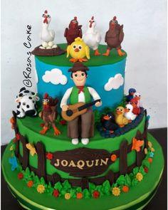 Las más lindas tortas de la granja de Zenón Farm Animal Birthday, Farm Birthday, First Birthday Parties, Birthday Party Themes, First Birthdays, Cake And Cupcake Stand, Ice Cake, Grandma Birthday Cakes, Country Themed Parties
