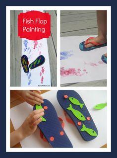 {Summer Craft} Fish Flop Painting @JDaniel4's Mom