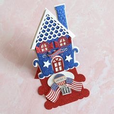 Patriotic Bunting, Patriotic Crafts, July Crafts, Patriotic Party, Holiday Cards, Christmas Cards, Holiday Parties, Happy Fourth Of July, July 4th
