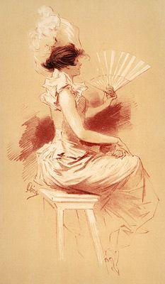 Um retrato por Jules Cheret