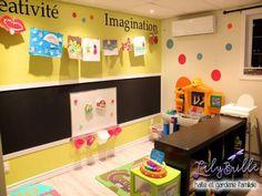 love this idea for a playroom