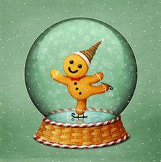 Christmas Globes, Felt Christmas, Christmas Cookies, Snow Globes, Vintage Christmas, Man Illustration, Christmas Illustration, Illustrations, Cute Christmas Wallpaper