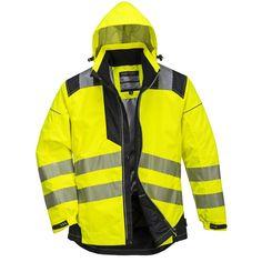 Chaqueta de lluvia Vision de alta visibilidad Amarilla//Negra.