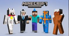 The Minecraft's First Birthday X Box 360 Skin Pack!