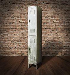 Vintage 2 Tier Brushed Steel Locker par wesbenn sur Etsy