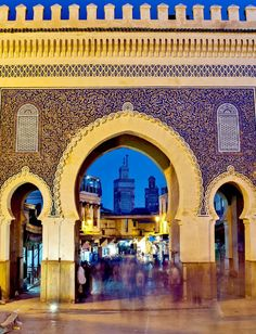 hello morocco Bab Bou Jeloud. Fes, Morocco