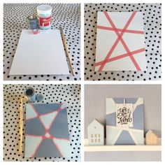 DIY: Last-minute-moederdag-cadeau- last minute present mothersday Diy For Kids, Crafts For Kids, Diy Gifts For Mom, Mom Day, Mothers Day Crafts, Camping Crafts, Diy Canvas, Canvas Art, Diy Room Decor