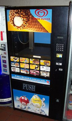 Here's a new version of an old-fashioned ice cream vending machine...
