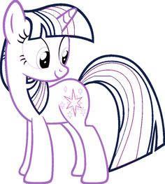Twilight Sparkle Coloring Page with links to the other MLPs!