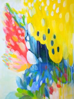 Bloom by Alice Lo- Acrylic on Canvas, Abstract Expressionism, Abstract Art, Abstract Nature, Original Paintings, Original Art, Colorful Artwork, Find Art, Buy Art, Art For Sale