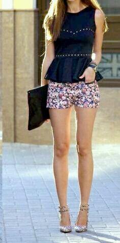 Floral short-shorts for spring