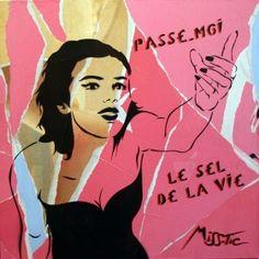 Street Art | Miss.Tic | Passe-moi le sel de la vie | Tirage d'art en série limitée sur L'oeil ouvert