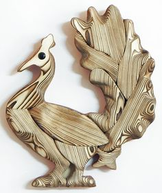 Artistic Peacock - Wall Hanging (Wood)