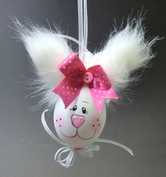 Eggs painted with plush ears Easter Egg Crafts, Bunny Crafts, Easter Eggs, Cute Easter Pictures, Easter Tree Decorations, Easter Flower Arrangements, Diy And Crafts, Crafts For Kids, Egg Carton Crafts