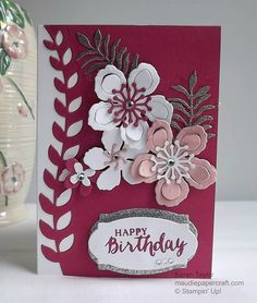 MaudiePapercraft: Stampin' Up! Botanical Blooms cards