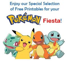 Free party printables in a bunch of themes not just Pokemon. I've used the site for candy bar wrappers, water bottle wraps, and images for other decorations.