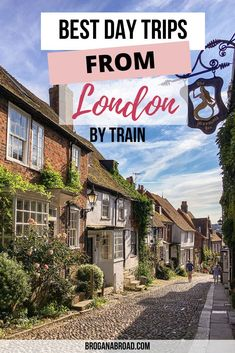 Best day trips from London by train | Best day trips from London by public transport | Best day trips from London | Best places to visit near London | Best things to do near London | Cutest places to see near London | Day trips from London | London Day Trips #London #daytrips #travel Europe Travel Tips, Travel Guides, Travel Destinations, Travel Uk, Backpacking Europe, Train Travel, Travel Abroad, European Travel, Day Trips From London