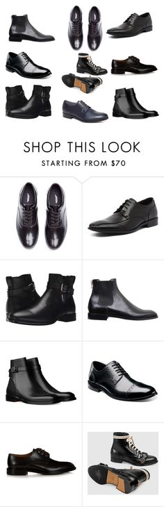"""""""formal shoes for men"""" by masarambhavani ❤ liked on Polyvore featuring Undercover, Julius Marlow, Aquatalia by Marvin K., Givenchy, Nunn Bush, Gucci, Lanvin, men's fashion and menswear"""