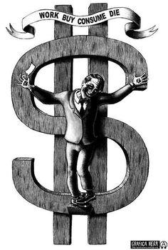 anarquismo, feminismo, anticapitalismo, memes, carteles, humor, diseño gráfico, street art, arte urbano Dollar