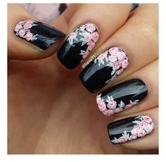 Pretty Nail Art With Black #Beauty #Trusper #Tip