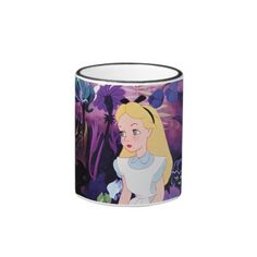 Alice in Wonderland Garden Flowers Film Still. Regalos, Gifts. Producto disponible en tienda Zazzle. Tazón, desayuno, té, café. Product available in Zazzle store. Bowl, breakfast, tea, coffee. #taza #mug