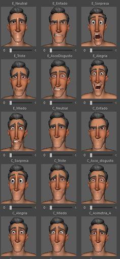 Carl Animum Facial Expressions 1