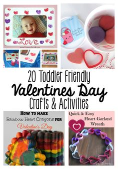 20 toddler friendly valentines day crafts and activities for kids! These valentines day activities are so fun!