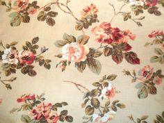 "LAURA ASHLEY new Angelica  fabric 18 x 22"" patchwork/craft/cushion"
