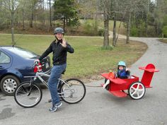 so cute! Red Baron Child's Bicycle Trailer