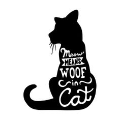 """""""Meow"""" Character-Type Wall Decal"""