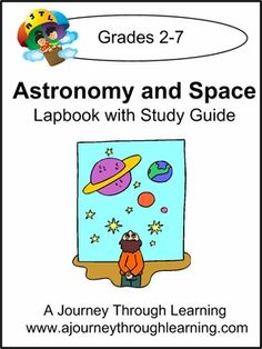 February Featured $5 Lapbook of the Month (instant download). Astronomy and Space Lapbook with Study Guide. 76 pages. 3 folder lapbook project. #lapbooks #lapbooking #homeschool