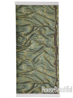 Wrinkled silk damask paper in Emerald, zoffany.com