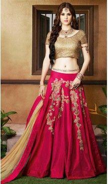 Deep Pink Color Silk Circular Style Designer Lehenga Choli | FH499976480 #heenastyle, #designer, #lehengas, #choli, #collection, #women, #online, #wedding , #Bollywood, #stylish, #indian, #party, #ghagra, #casual, #sangeet, #mehendi, #navratri, #fashion, #boutique, #mode, #henna, #wedding, #fashion-week, #ceremony, #receptions, #ring , #dupatta , #chunni , @heenastyle , #Circular , #engagement