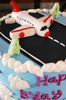Airplane Cake with Fall colors for Rudys bday cute ideas