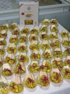 Un particolare del buffet della degustazione dei Tortelloni GustaMente #senzaglutine cucinata e presentata con grande professionalità e creatività dal Personal Chef Andrea Coletta.