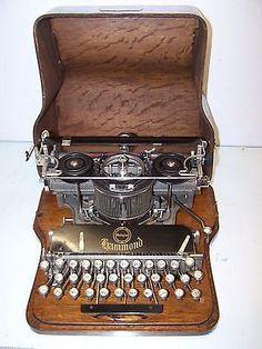 Antique-1916ca-Hammond-Multiplex-Vintage-Typewriter-Collector-Item-Works
