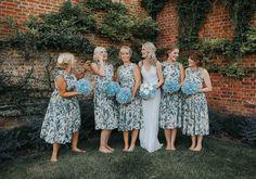 Bride Faye wears an 1930's inspired drop waist glamorous dress by Eliza jane Howell for her effortlessly elegant summer garden party wedding.