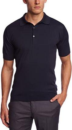 John Smedley Mens Adrian Button Front Short Sleeve Polo Shirt