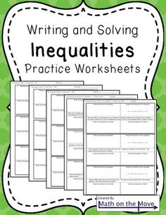 Writing and Solving Inequalities (Including Word Problems)