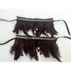 Bohemian Boot Covers Feather Boot Cuffs Gypsy Boot Wrap Ankle Cuff... ($30) ❤ liked on Polyvore featuring jewelry, bracelets, boho style jewelry, boho bangles, feather jewelry, ankle cuff jewelry and feather bangle