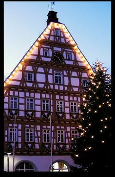 Christmas in Leonberg Town Hall, Germany