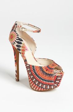 Free shipping and returns on Betsey Johnson 'Bandit' Sandal at Nordstrom.com. A bold platform and wrapped heel create dramatic height beneath an ankle-strap sandal.