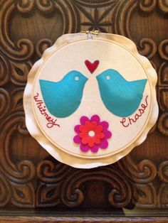 """Custom 6"""" embroidery and felt hoop for a special occasion on Etsy, $25.00"""